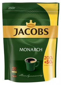 Кофе растворимый Jacobs Monarch 250г, пакет